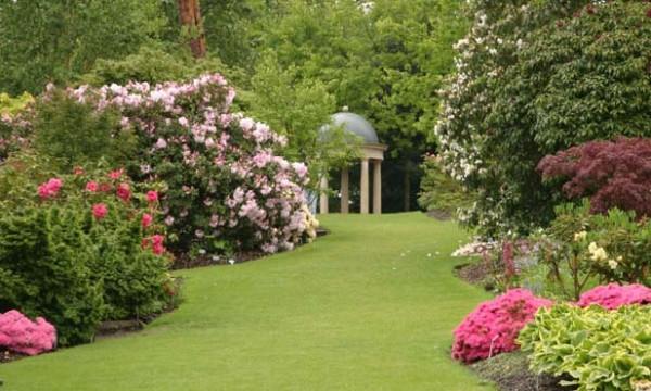 Английский пейзажный сад с газоном