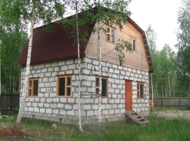 Как построить дачный домик из блоков своими руками фото 100