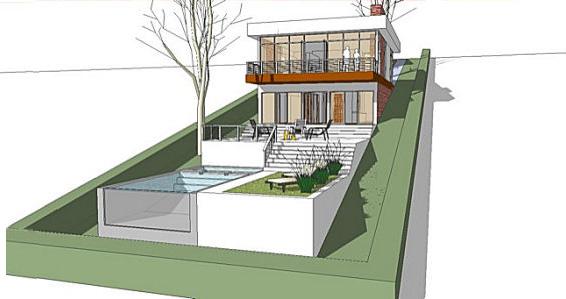 Дачный домик на склоне – пример того, как использовать возможности рельефа