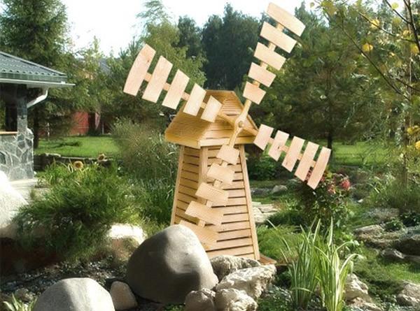 Декоративная мельница для сада фото Дом Мечты