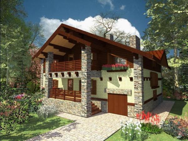 Декоративные панели дополнительно защитят и украсят дачный дом.