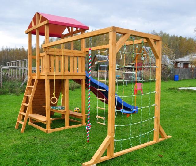 Детские площадки на даче фото