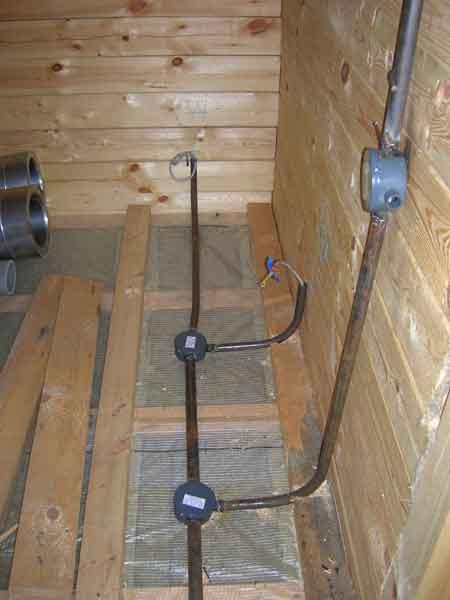 Для защиты от огня провода прокладываем в негорючих каналах