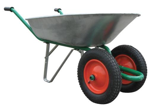 Двухколёсная тележка с алюминиевым кузовом. Фото