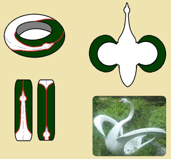 Эластичная, но все еще прочная изношенная резина идеальна для изготовления скульптур животных и птиц.