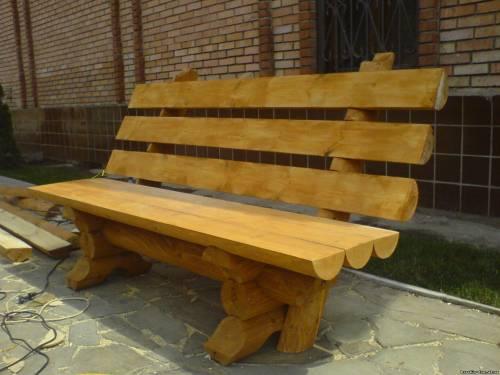 Еще один вариант садовой скамейки