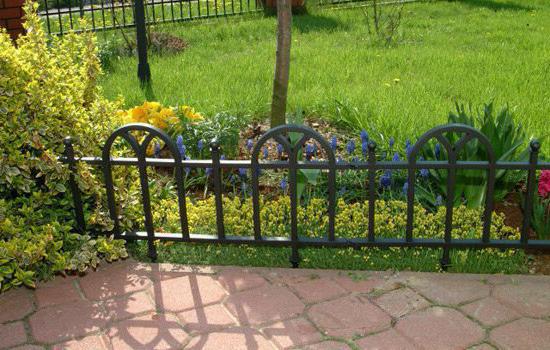 Фото декоративного садового забора