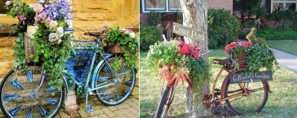 Фото велосипеда, который очень хотел стать клумбой. Согласитесь, чудеса бывают!