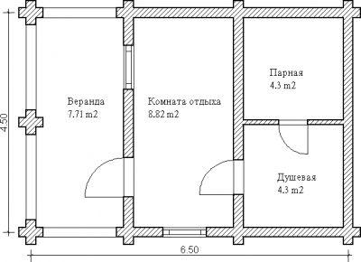 Фрагмент плана с габаритами