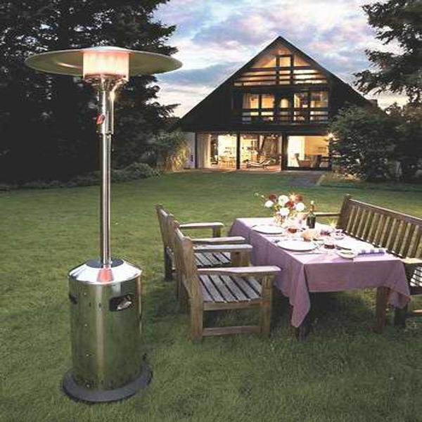 Газовые уличные обогреватели для дачи используются не только зимой, но и прохладными летними вечерами