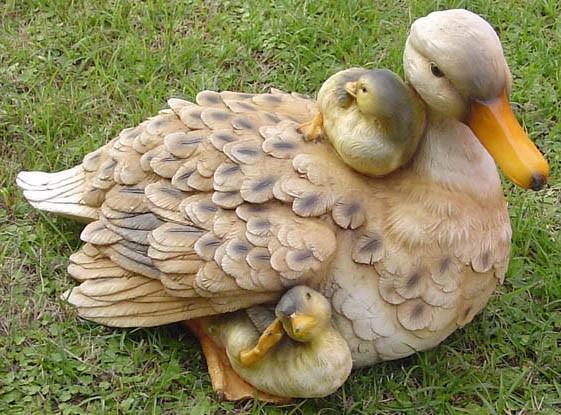 Гипсовая утка – практически как живая