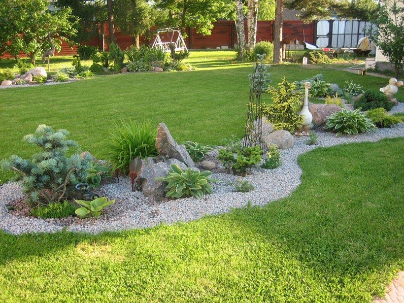 Готовые композиции для сада в виде рокария
