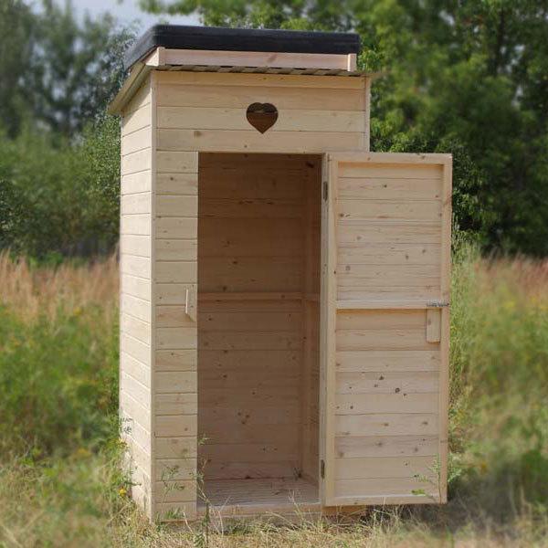 Готовый туалетный домик для дачи