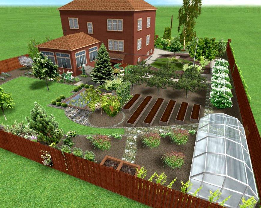 элементов садового участка