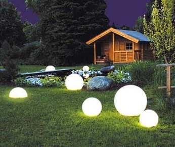 Грамотно подобранные осветительные приборы преобразят до неузнаваемости ваш участок