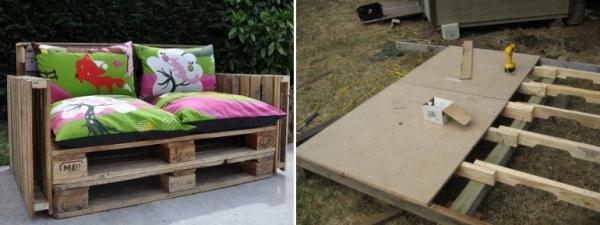 Идеи из поддонов для дачи и загородного участка