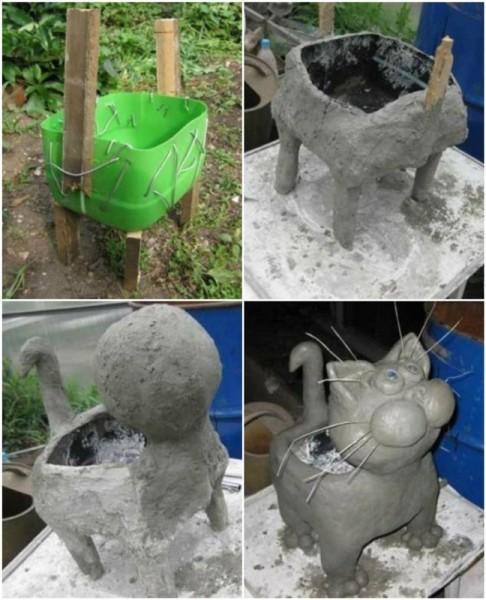 Инструкция по сборке кота-клумбы