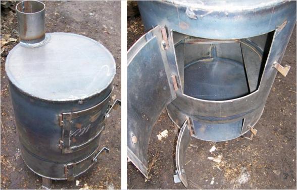 Изготовление буржуйки из стальной трубы.