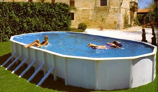 Каркасный бассейн упрощённой конструкции