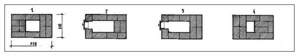 Кладка-схема по рядам