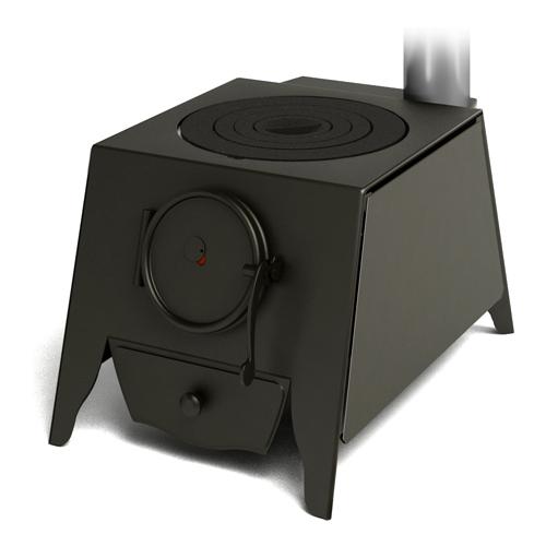 Компактная модель из жаростойкой стали с варочной поверхностью из чугуна.