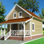 Дачный дом своими руками