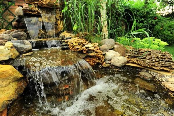 Ландшафтный дизайн – водопад на участке