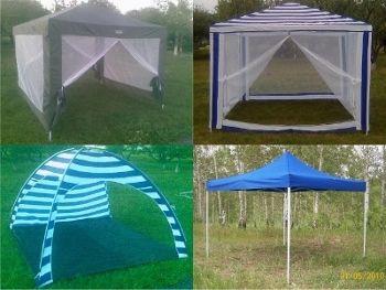 Лёгкие садовые павильоны-палатки могут быть с вами практически везде