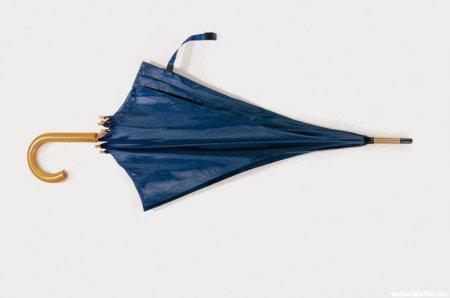 Любой старый зонт спасёт поделку от промокания и дополнит её антураж
