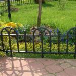 Металлический декоративный забор