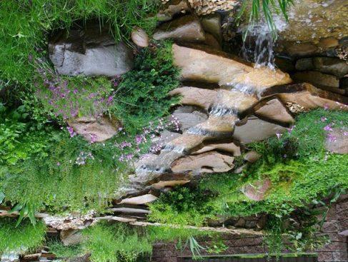 Многоуровневый каскадный водопад