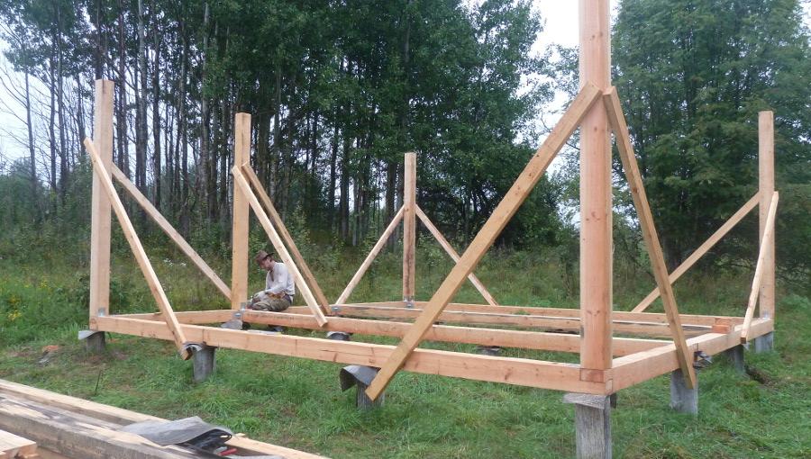 Как построить деревянный каркас своими руками 785