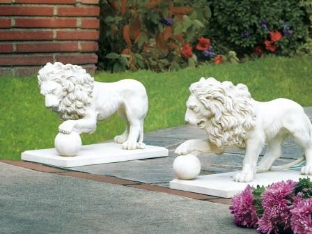 Мраморные скульптуры можно рекомендовать для оформления крупных участков