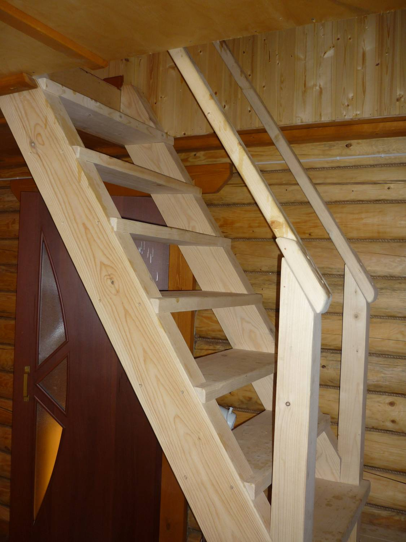 Лестница на второй этаж своими руками из дерева с фото 51