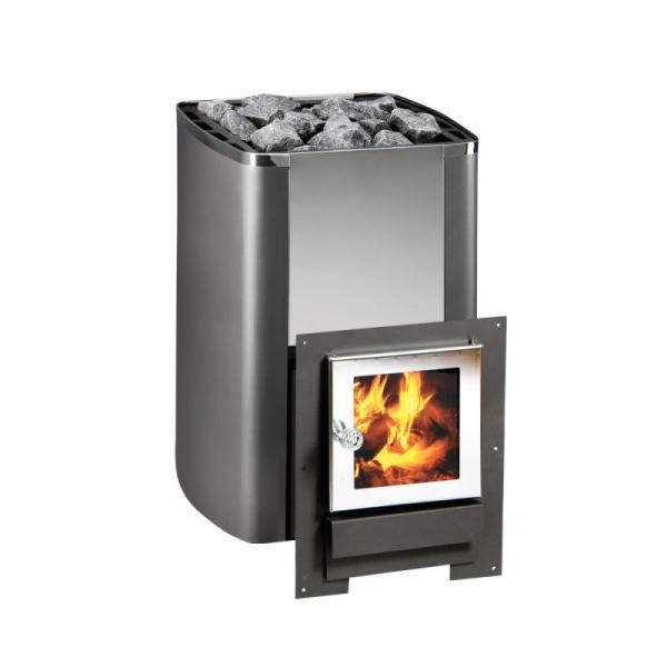 На фото – печь камин с теплообменником