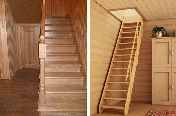 На фото: конфигурация конструкции во многом зависит от пространства, которое возможно выделить под лестницу