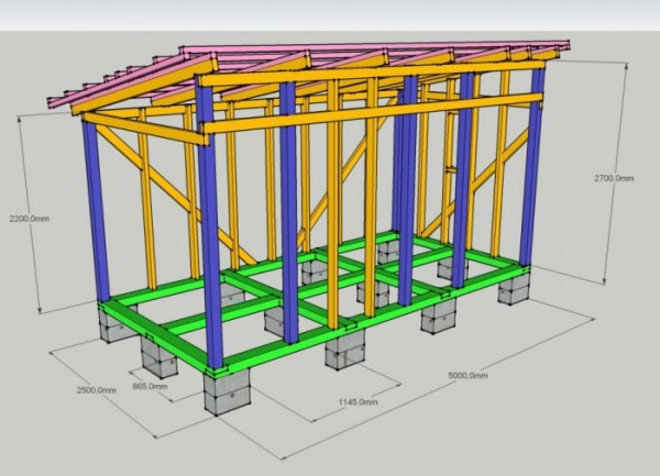 На фото показан фрагмент технического проекта с чертежом несущей конструкции.