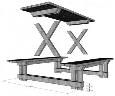 Наглядная схема изготовления комплекта.