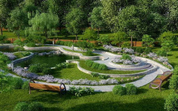 Оригинальный дизайн сада