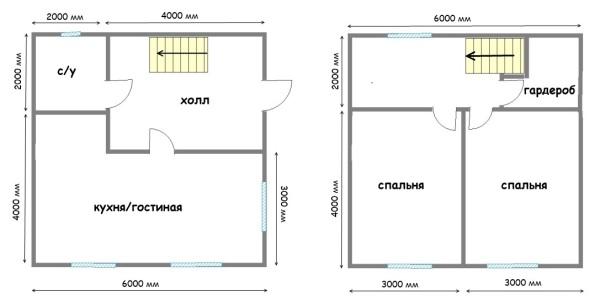 Отличный план для создания двухэтажных конструкций с заданными габаритами