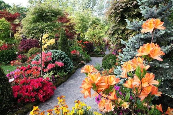 Пейзажный стиль в оформлении сада полюбился за отсутствие четких рамок и огромнейшего выбора растений