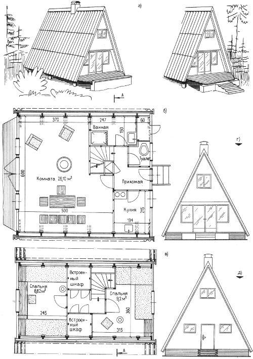 Домик на даче своими руками чертежи схемы 137