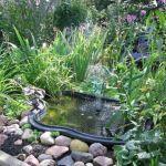 Пластиковый садовый пруд