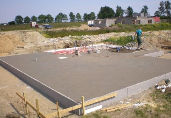 Площадка должна иметь уклон для удаления воды
