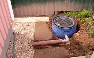 При отсутствии канализационной системы следует предусмотреть наличие ямы-коллектора