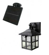 Пример светильника с отдельно располагающейся солнечной панелью