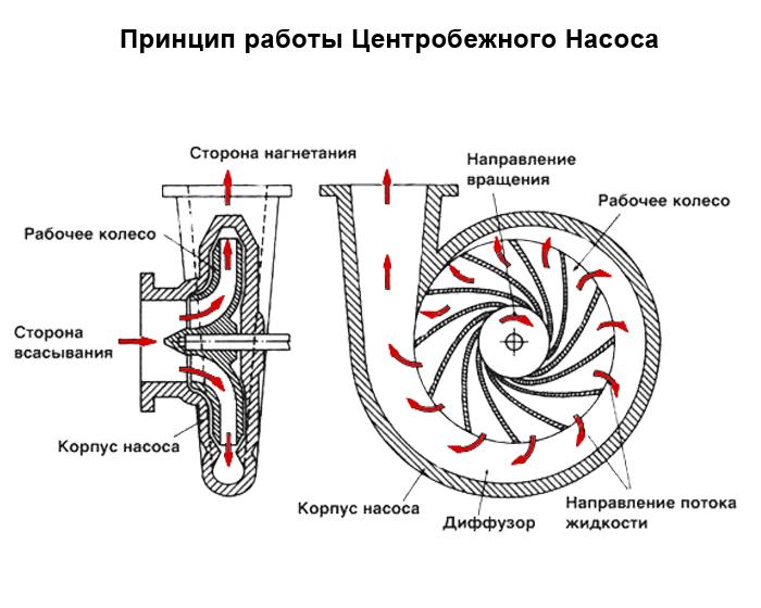 Принцип работы центробежного