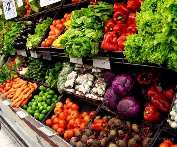 Продажа свежих овощей.