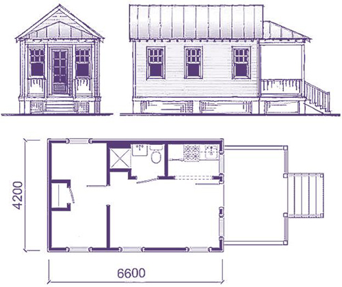 Проект малогабаритного деревянного дома