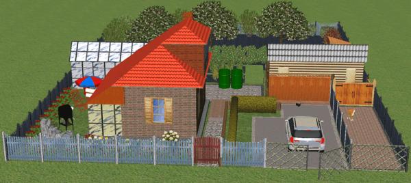 Проект с небольшим огородом